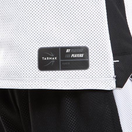 ខោខ្លីសម្រាប់ក្មេងប្រុសស្រីកម្រិតមធ្យមដែលអាចត្រឡប់ចេញក្រៅបាន T500R - ស ឬខ្មៅ
