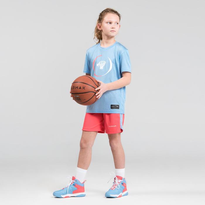 Basketbalshirt voor gevorderde jongens/meisjes TS500 blauw