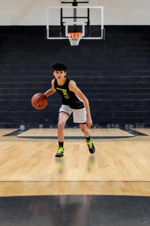 Kids' Reversible Sleeveless Basketball Jersey T500R - Black/White Noth