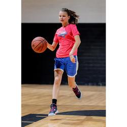 Boys'/Girls' Intermediate Reversible Basketball Shorts SH500R - Pink/Blue