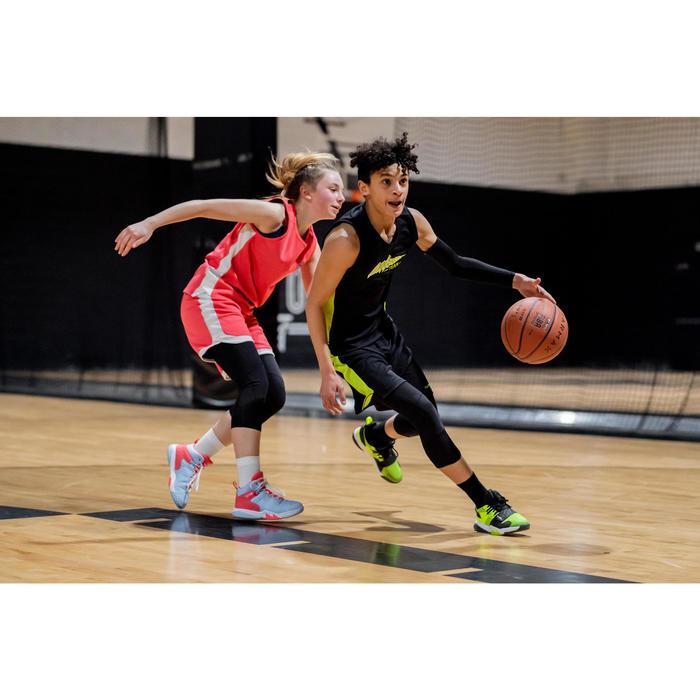 Basketbalshort voor gevorderde jongens/meisjes SH500 zwart/groen