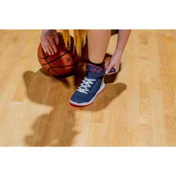 CHAUSSURES DE BASKETBALL EASY POUR GARCON/FILLE DEBUTANT(E) NAVY ROSE SE100