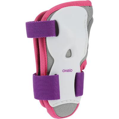 Set 3 protections roller skate trottinette enfant PLAY violet