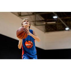 Basketbalshirt T500 blauw/oranje Fox (kinderen)