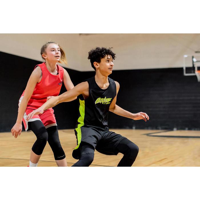 Basketbalshirt voor gevorderde jongens/meisjes zwart/groen T500 Dunkers