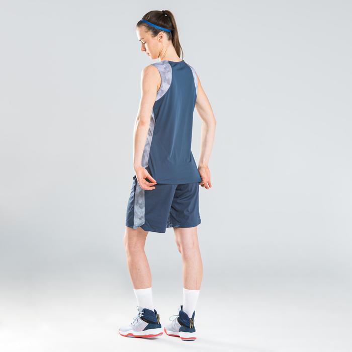 SHORT DE BASKETBALL FEMME NAVY GRIS SH500
