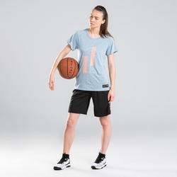 Women's Intermediate Basketball T-Shirt TS500 - Blue/Grey