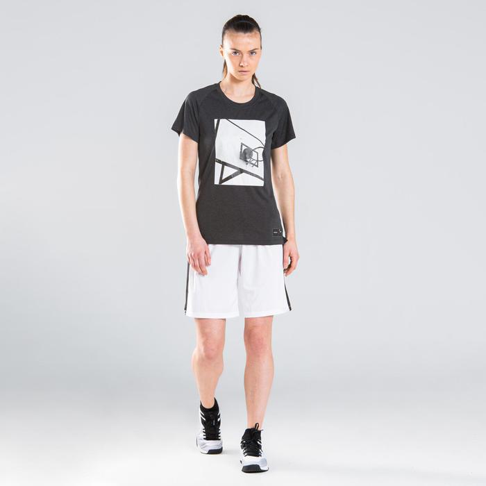 Women's Intermediate Basketball T-Shirt TS500 - White