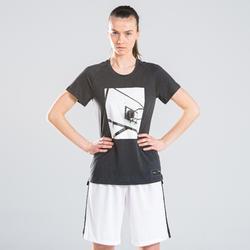 女款中階籃球T恤TS500-白色