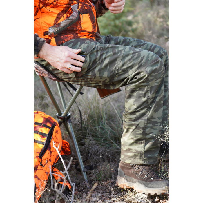 Warme camouflagebroek voor de jacht 100 groen