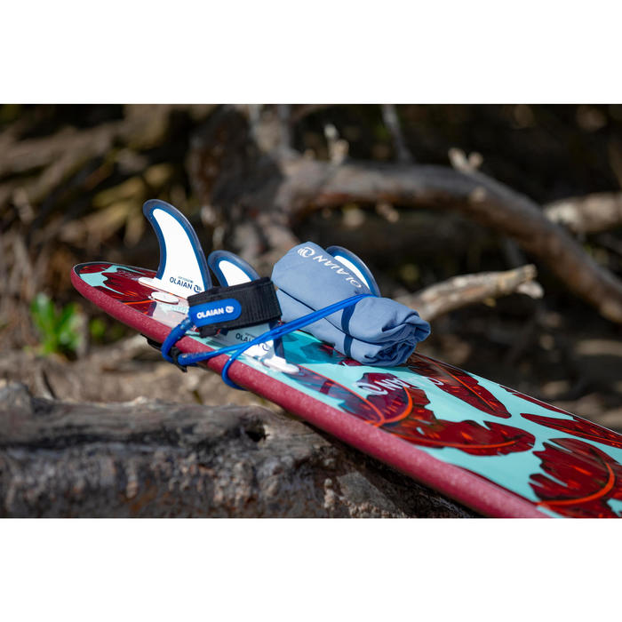 Surfponcho voor volwassenen 100 blauw