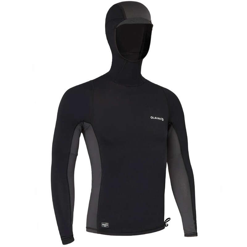 UV-Schutz Herren Damenbekleidung - UV-Shirt Top500 Herren schwarz OLAIAN - Oberbekleidung Damen