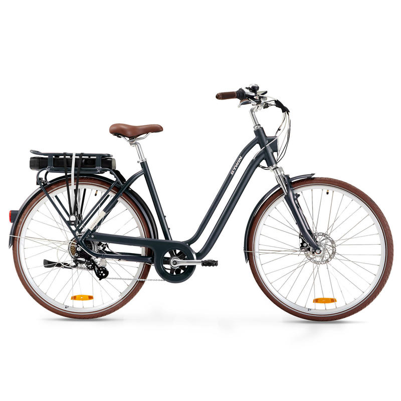 Elops 900 E Low Frame Electric Town Bike - Blue