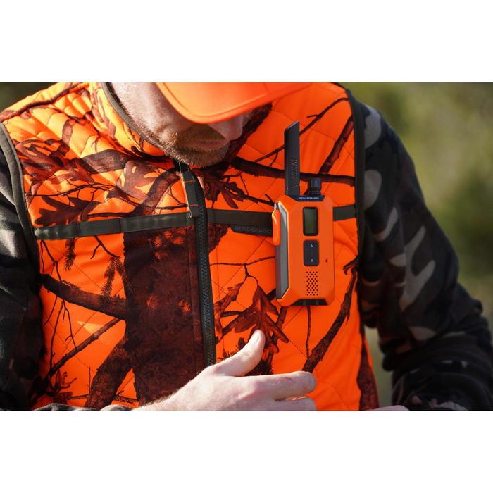 Omkeerbare bodywarmer voor de jacht 100 camouflage/fluo