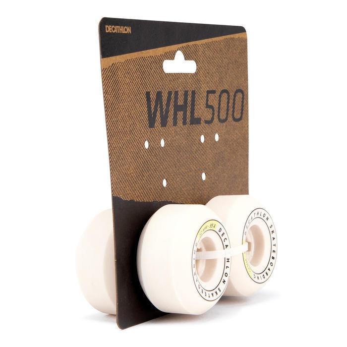 Skateboardwielen 52 mm 99A conisch ivoorkleur set van 4