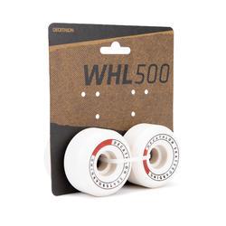 Skateboardwielen 56 mm 99A conische vorm ivoorkleur set van 4