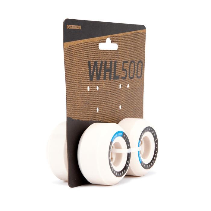 Skateboardwielen 54 mm 101A conische vorm ivoorkleur set van 4