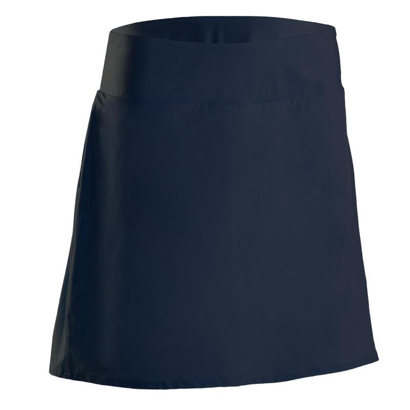 Jupe-short de golf femme WW500 bleu marine
