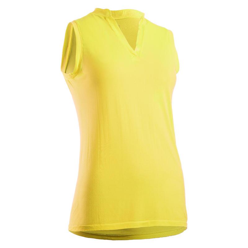 Women's Ultralight Sleeveless Golf Polo Shirt - Yellow