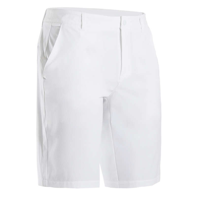 MENS WARM WEATHER GOLF CLOTHING Golf - MEN ULTRA-LIGHT SHORTS WHITE INESIS - Golf Clothing
