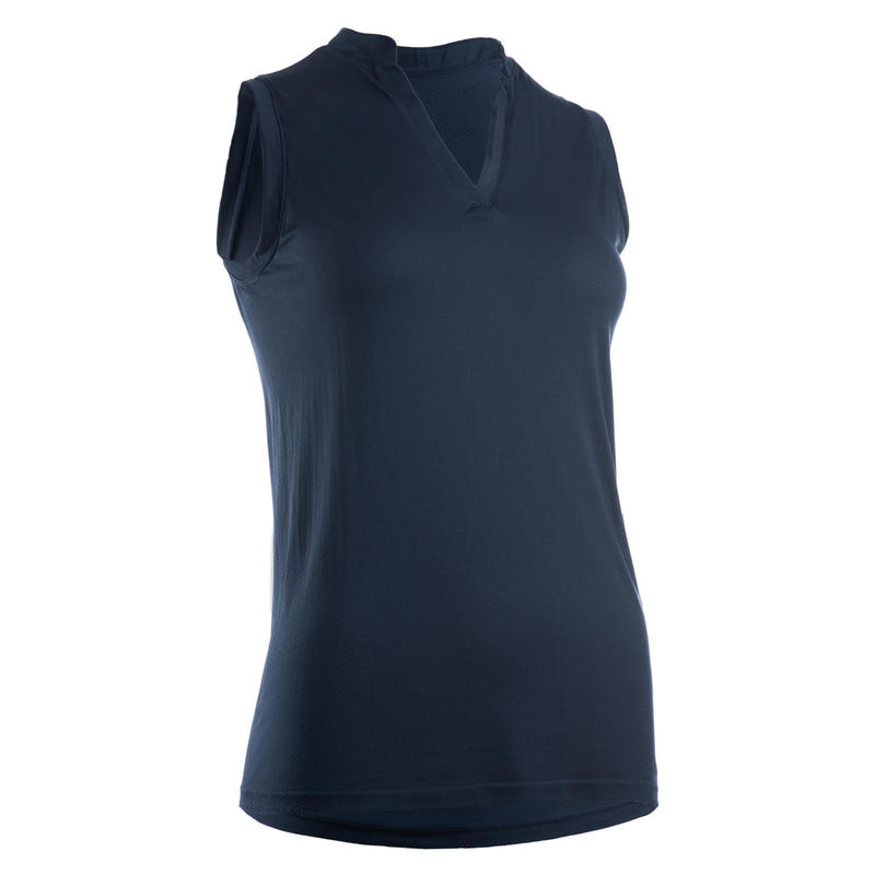 Mouwloze golfpolo voor dames Ultralight marineblauw