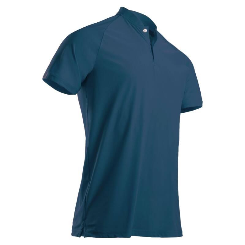 PÁNSKÉ GOLFOVÉ OBLEČENÍ DO TEPLÉHO POČASÍ Golf - PÁNSKÉ POLO WW900 MODRÉ INESIS - Golfové oblečení
