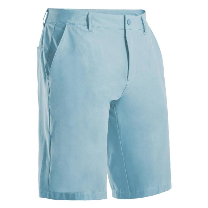 PÁNSKÉ GOLFOVÉ OBLEČENÍ DO TEPLÉHO POČASÍ Golf - KRAŤASY ULTRALIGHT MODRÉ INESIS - Golfové oblečení