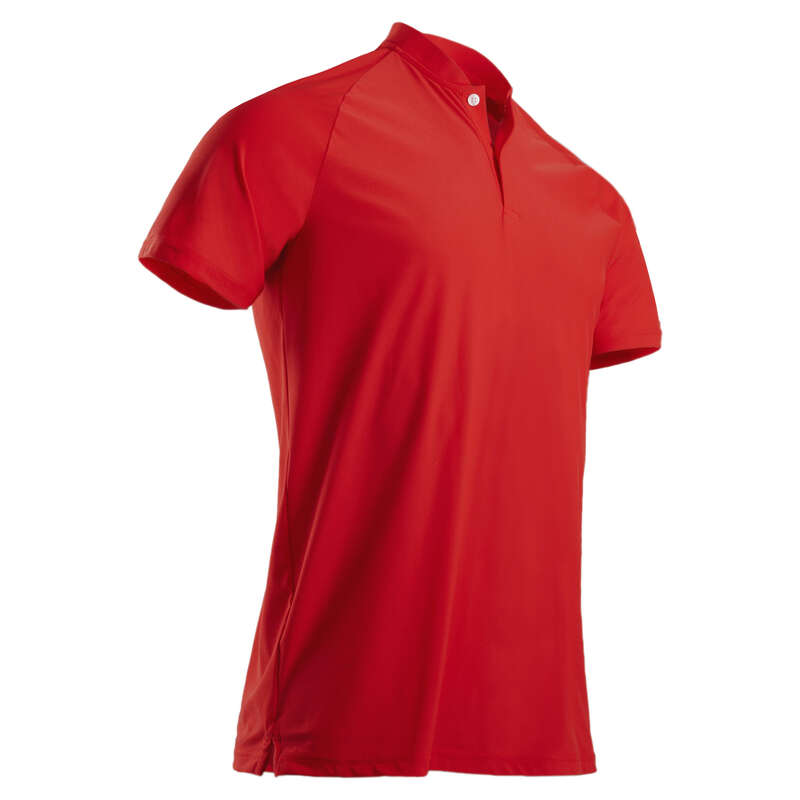 MENS WARM WEATHER GOLF CLOTHING Golf - M Ultralight Polo Shirt - Red INESIS - Golf Clothing