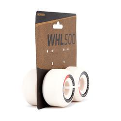 Skateboardwielen 56 mm 101A conische vorm ivoorkleur set van 4