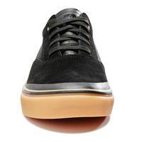 Chaussures basses de planche à roulettes adulte VULCA 500 noire, semelle gomme