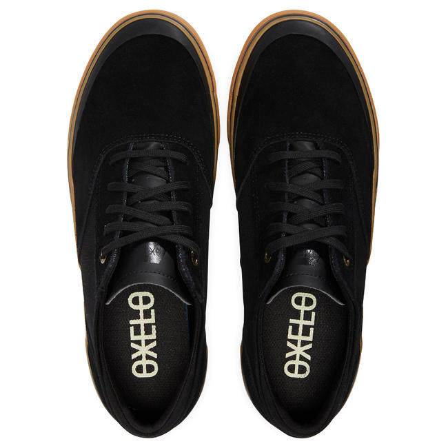 Vulca 500 Adult Low-Top Skate Shoes - Black/Rubber Sole