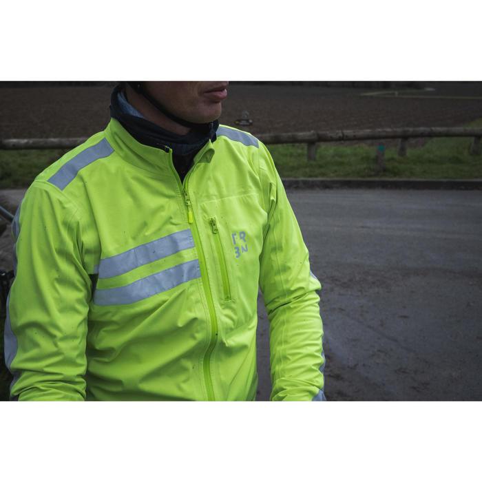 Fietsregenjas RC500 hoge zichtbaarheid