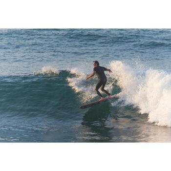 男款抗UV衝浪緊身褲100-石板藍