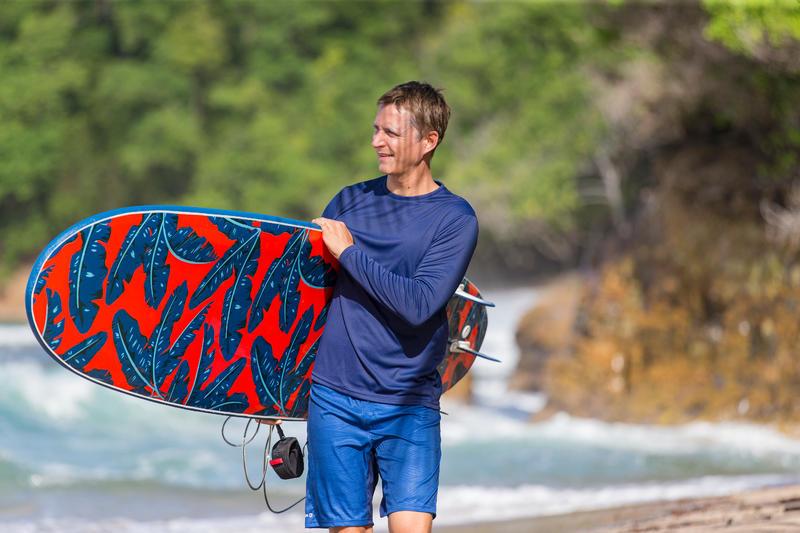 Men's Surfing long-sleeve anti-UV WATER T-Shirt - Blue