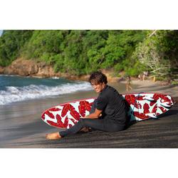 Uv-werende surflegging voor heren 100 blauwgrijs
