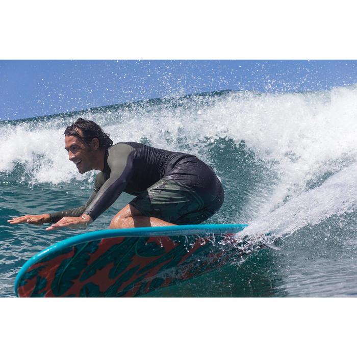 Uv-werende rashguard met lange mouwen voor surfen heren 500 kaki