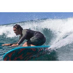 tee shirt anti uv surf top 500 manches longues homme kaki