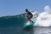 Surf boardshort standard 500 flowers kaki