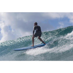 """Surfboard soft top 500 8'6"""". Geleverd met 1 leash en 3 vinnen."""