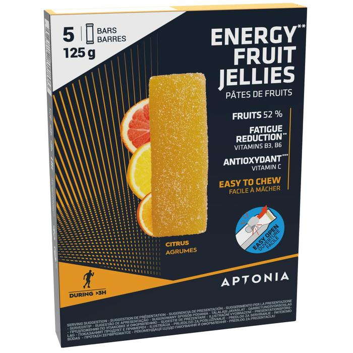 Pâte de fruits ENERGY FRUIT JELLIES agrumes 5 x 25g