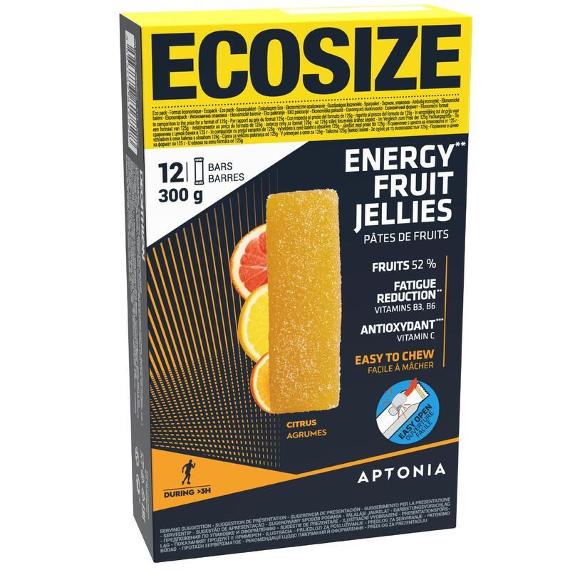 Pâte de fruits ENERGY FRUIT JELLIES ECOSIZE agrumes 12 x 25g