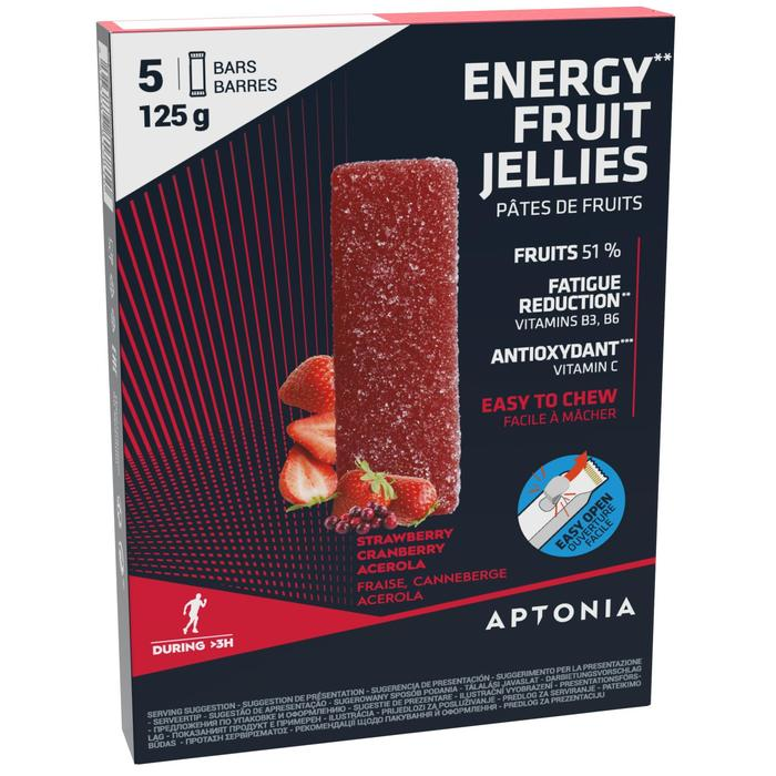 Energy Fruit Jellies aardbei/cranberry/acerola 5x 25 g