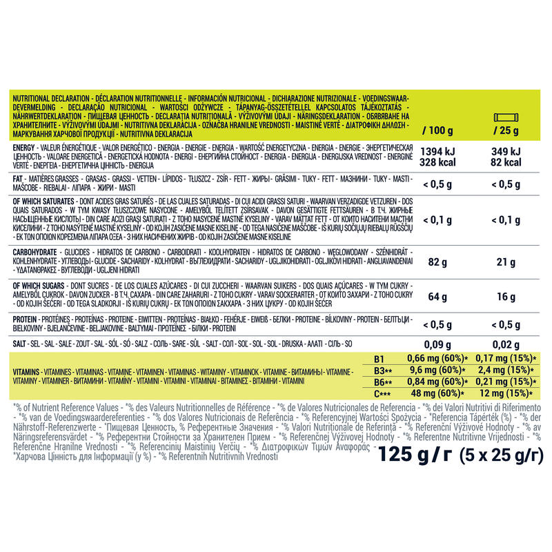 Pâte de fruits ENERGY FRUIT JELLIES poire 5 x 25g
