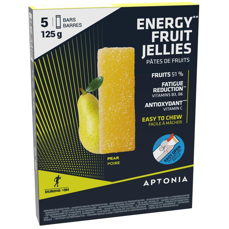 Pâte de fruits ENERGY FRUIT JELLIES poire 5 x 25g