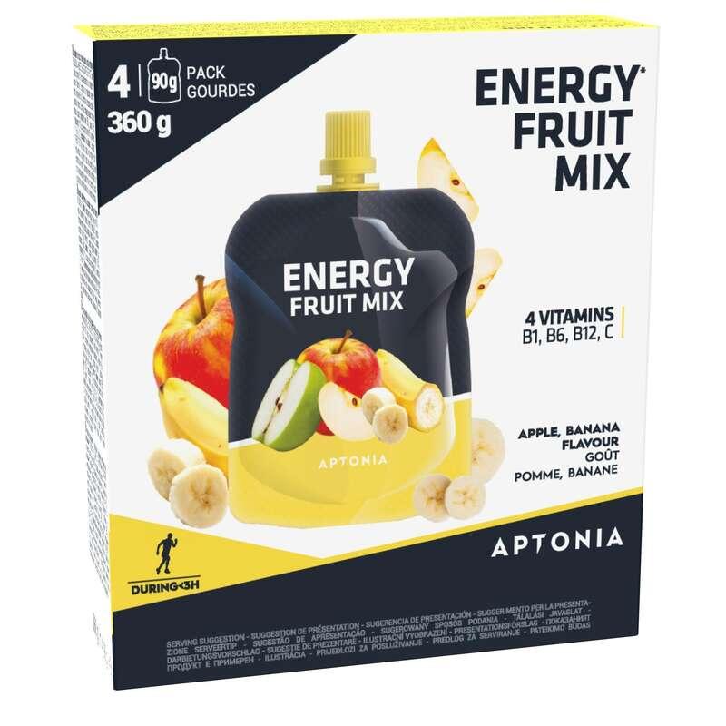 BARS, GELS & AFTER Supplements - ENERGY FRUIT MIX 4X90 G BANANA APTONIA - Energy Supplements