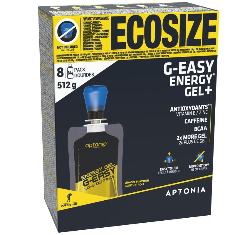 Energetické gely G-Easy Long Distance s příchutí citrónu 8 × 64 g