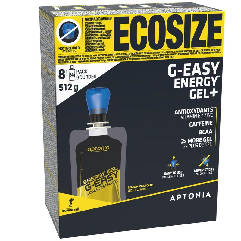 Gel energetico G-EASY LONG DISTANCE limone 8 x 64 g