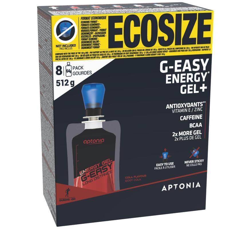 Energetické gely G-Easy Long Distance s příchutí koly 8 × 64 g