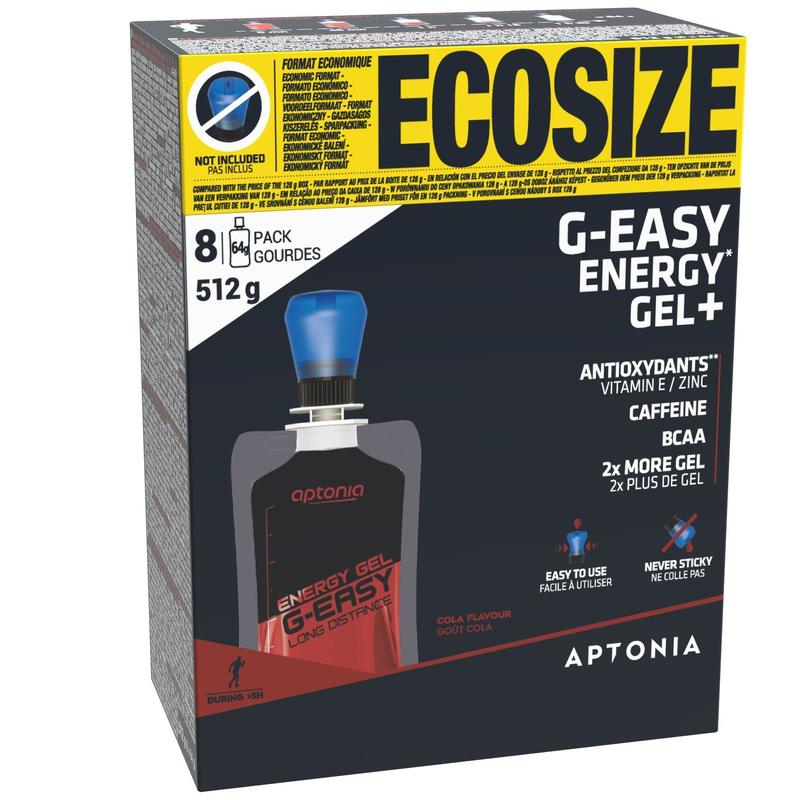 G-EASY ECO-SIZE LONG-DISTANCE ENERGY GEL 8X64 G - COLA