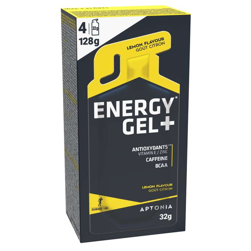 BARRAS, GÉIS& PÓS-ESFORÇO Hidratação e Alimentação - Gel Energy Gel+ Limão 4x32g APTONIA - Esforço Superior a 3 Horas